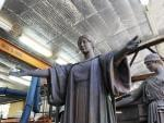 The restored Alma Mater statue prior to re-installment on the U of I campus.
