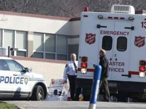 Emergency responders gather after Pennsylvania school stabbing