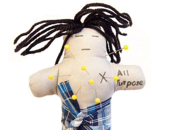 Volunteers with lower levels of blood sugar stuck more pins in voodoo dolls of their spouses than people with higher levels.