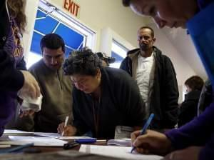 Hundreds in California rushed to get health insurance just before the deadline.