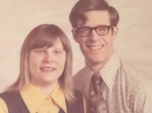 Ann and Robert Russell in 1972 after he returned home from Vietnam.