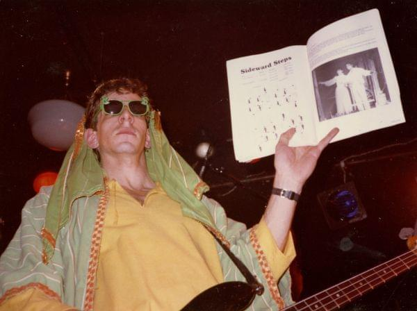 Mark Rubel with Captain Rat and the Blind Rivets at Mabel's in Dec. 1984.