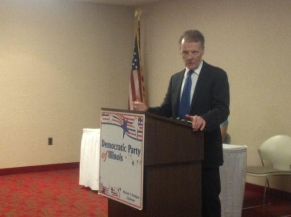 House Speaker and Illinois Democratic Party chair Michael Madigan speaks at a meeting of the Democratic State Central Committee on Tuesday, April 22, 2014.