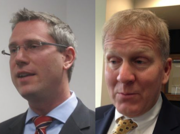 Democratic Sen. Mike Frerichs (l) and Republican Rep. Tom Cross (r) are running against each other to be next treasurer of Illinois.