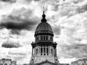 The Illinois State Capitol building in Springfield, Ill.