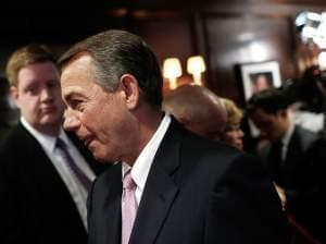 Speaker of the House John Boehner, R-Ohio, leaves a press conference in Washington, D.C., on Monday.