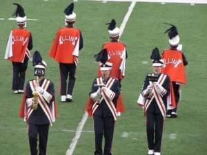 The University of Illinois' marching band.