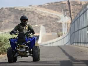 A new report lists more than 800 complaints made against U.S. Border Patrol agents; most include physical abuse. Here, an agent patrols the U.S.-Mexico border fence at in San Diego, Calif., last year.
