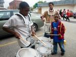 Little ones drumming big