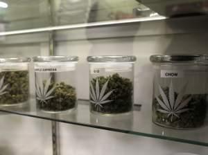 Prepared marijuana is for sale for those who possess a medical marijuana card, inside a dispensary in the small Rocky Mountain town of Nederland, Colo.