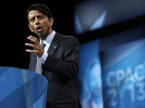 Louisiana Governor Bobby Jindal delivers remarks during the the 40th annual Conservative Political Action Conference (CPAC) held in March 2013.