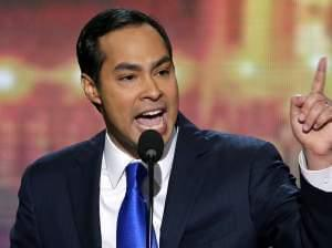 San Antonio Mayor Julian Castro is a rising star in the Democratic Party. He spoke at the Democratic National Convention in Charlotte, N.C., in 2012.