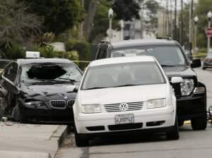 Police tape marks scene of shooting in California,
