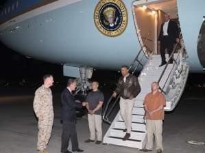 President Obama arrives in Afghanistan.