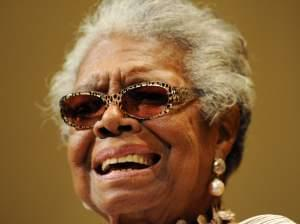 Dr. Maya Angelou speaks in Boca Raton, Florida.