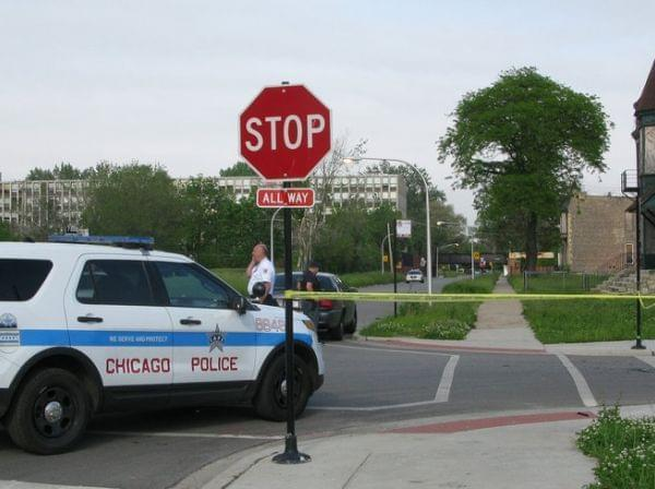 Police cordon off area in Chicago