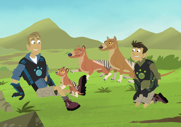 The Kratts go back in time to visit extinct animals