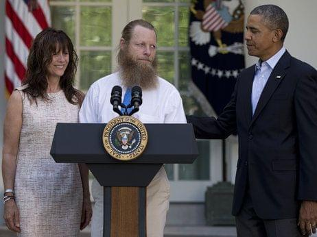 President Obama, Jani Bergdahl and Bob Bergdahl speak during a news conference in the Rose Garden of the White House in Washington on May 31 about the release of their son, U.S. Army Sgt. Bowe Bergdahl.