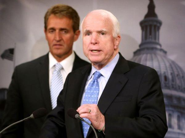 "Sen. John McCain has long advocated a sort of voucher system in which veterans can get medical care ""in the most efficient way possible."" At a news conference Tuesday, he introduced the Veterans Choice Act, with fellow Arizona Republican Se"
