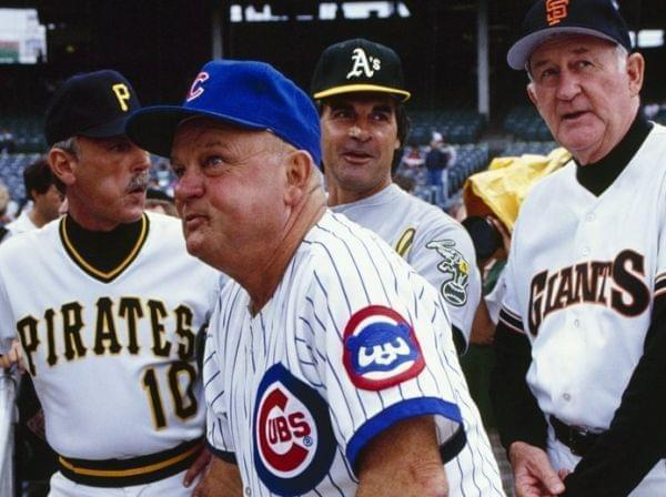 Don Zimmer before the 1990 All-Star Game