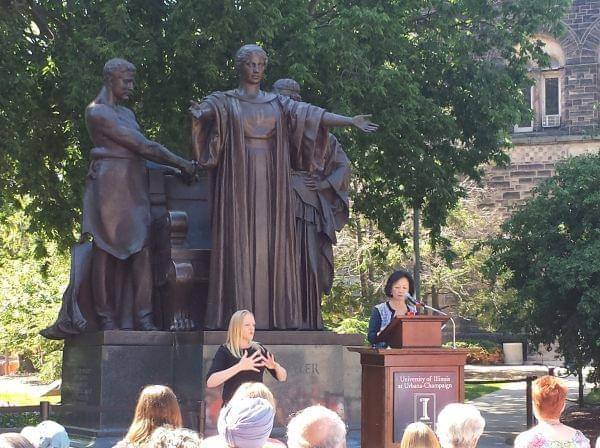 Chancellor Wise speaks at Alma Rededication.