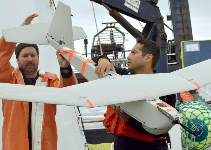 An AeroVironment Puma drone