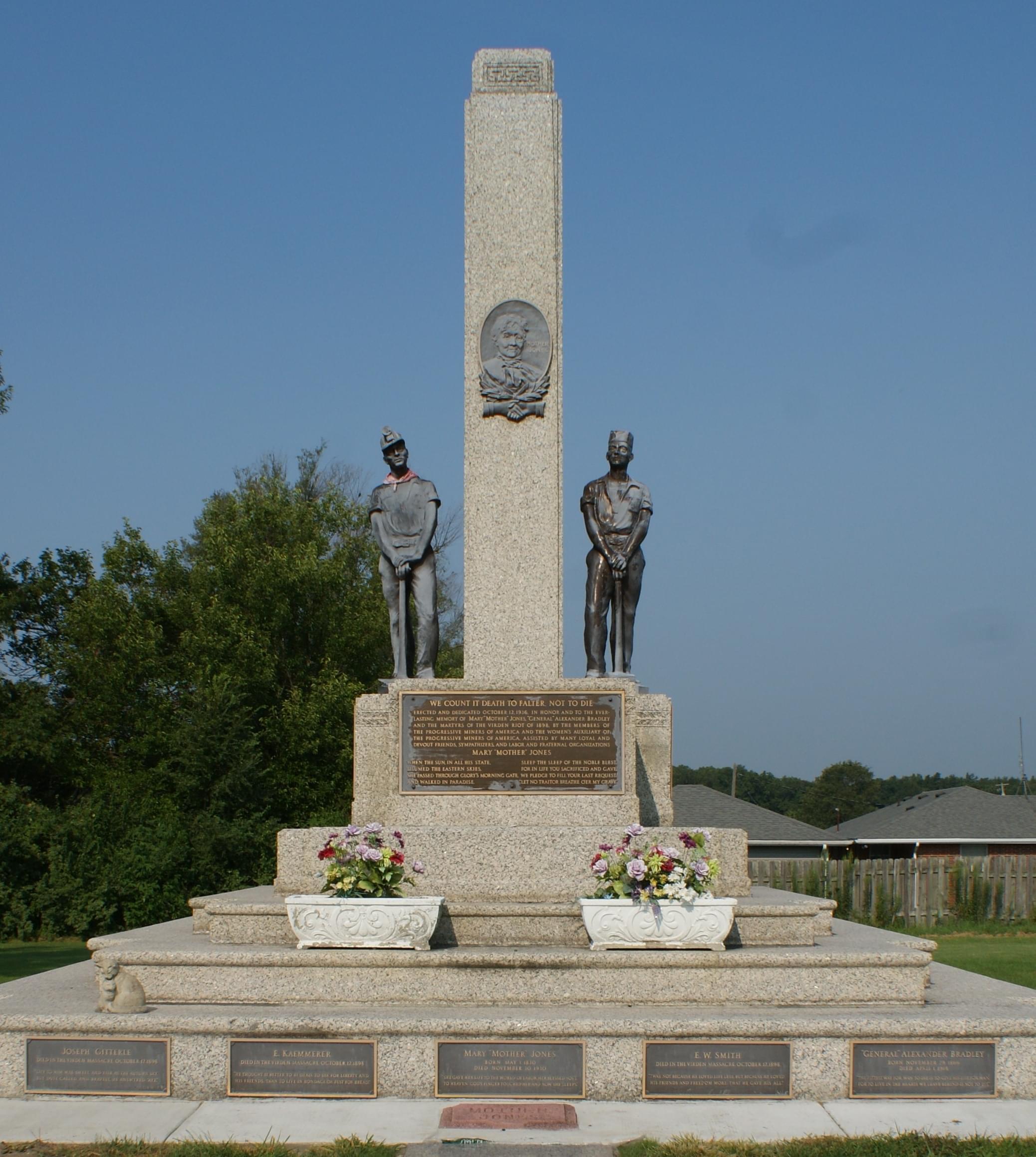 The Mother Jones Memorial in Mt. Olive Cemetery
