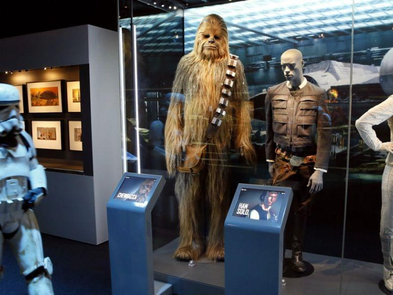 """While cities are still competing for the not yet built Lucas Cultural Arts Museum, parts of the collection are already on display. The """"Star Wars Identities"""" traveling exhibition, currently at the Cite du Cinema in Saint-Denis, France, feat"""