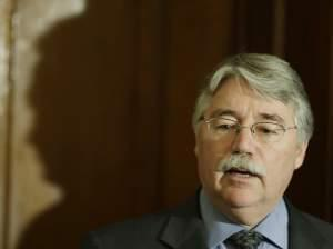 Indiana Attorney General Greg Zoeller speak during a news conference at the Statehouse Thursday, Dec. 20, 2012.