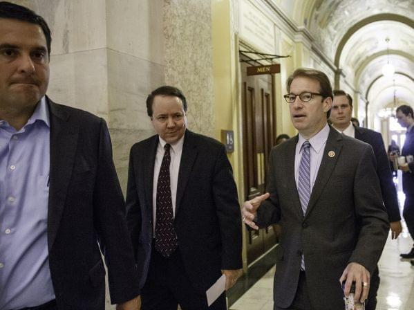 Peter Roskam leaves a meeting at the Capitol June 19.