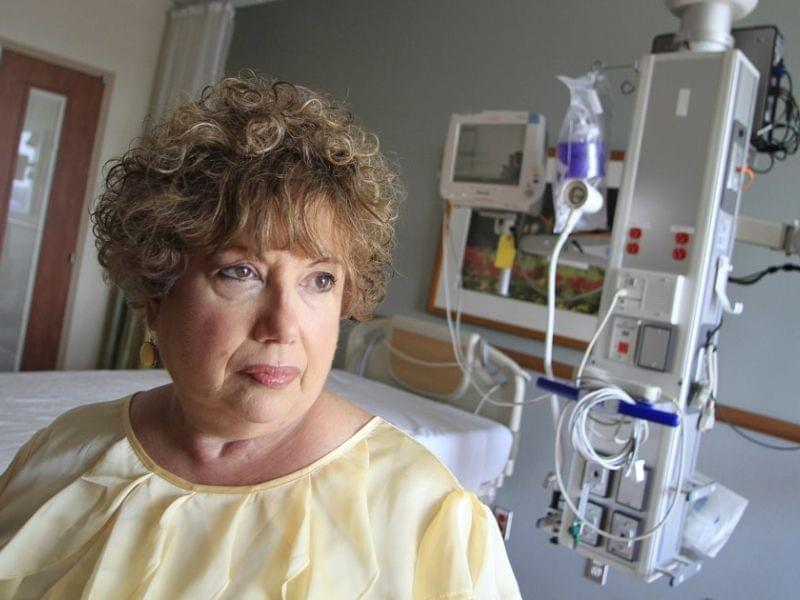 Dorothea Handron became so ill after a surgeon unknowingly pierced her bowel during a hernia operation that doctors placed her in a medically induced coma for six weeks to aid healing.