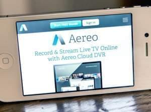 Aereo on an IPhone