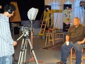 Brian practices videotaping Dr. P