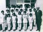 Douglass Center Drill Team, circa 1968, in Champaign, Illinois