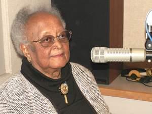 Erma Bridgewater in the W.I.L.L. radio studio