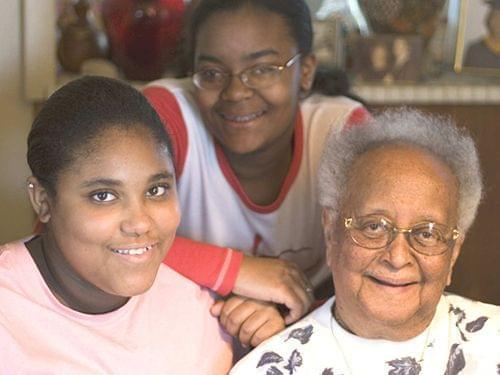 Gabby Ceaser, Lalaina Smith and Erma Bridgewater of Champaign, Illinois