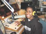 Sandra, a student at Edison Middle School, engineers an audio interview