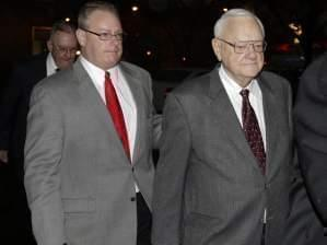 Former Gov. George Ryan arrives at halfway house in Chicago on Jan. 30, 2013.