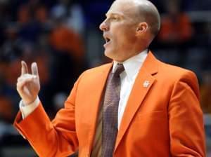 Illinois Coach John Groce on Dec. 16, 2012.