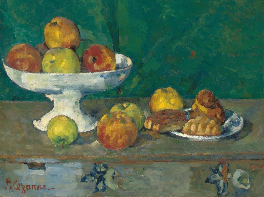 Apples and Cakes (Pommes et gateaux) by Paul Cezanne, 1873-1877.