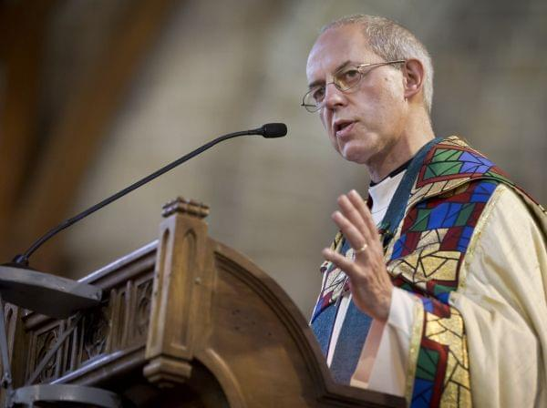 The Archbishop of Canterbury Justin Welby, shown here in Kenya last October, supported the decision to ordain women as bishops.