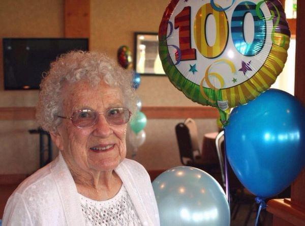 Betty Esser is 100 years old.