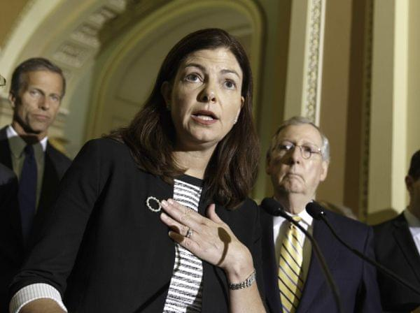 GOP Sen. Kelly Ayotte of New Hampshire complained about a Democratic effort to reaffirm a contraceptive mandate at a Tuesday news conference