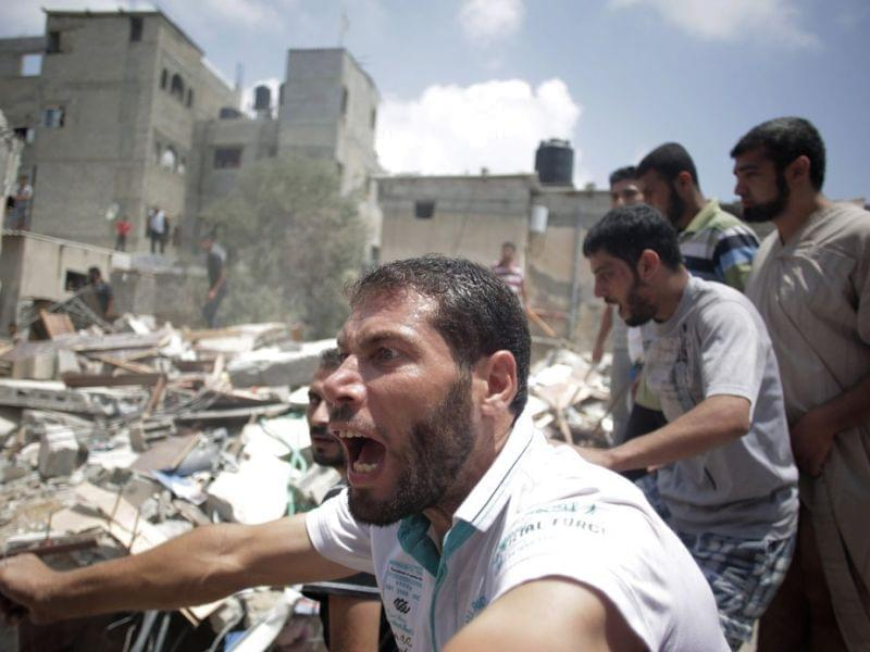 House destroyed by a missile strike in Gaza City
