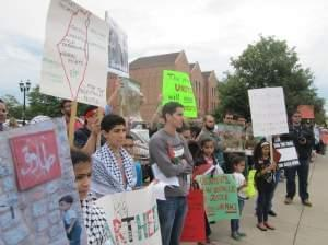 Protest against Israeli conflict with Gaza in Urbana