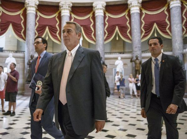 House Speaker John Boehner in House Chamber Wednesday