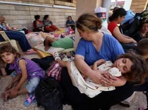 Iraqi Christians rest in Irbil.