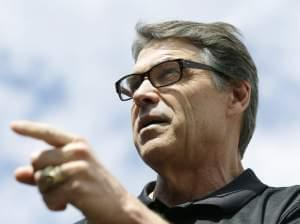 Texas Gov. Rick Perry at the Iowa State Fair on Tuesday.
