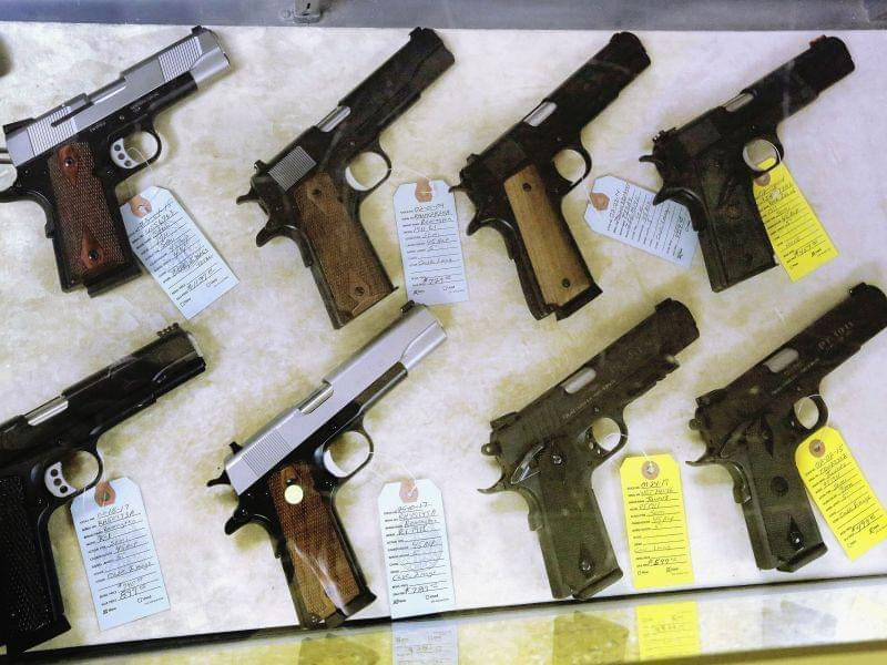 Handguns for purchase at Capitol City Arms Supply in Springfield, IL
