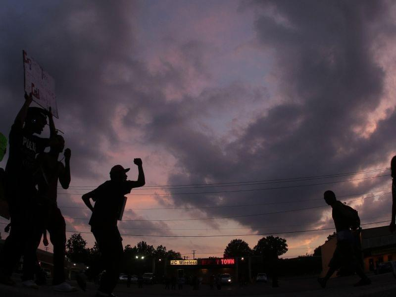 Protests on Monday, Aug. 18 in Ferguson, Mo